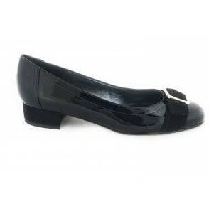 Yankie Black Patent Court Shoe
