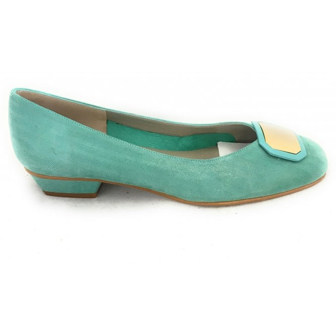 HB Yoco Green Printed Leather Pump