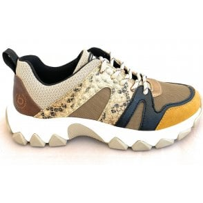 Yuki 432-95201-5550-5052 Brown, Black and Yellow Trainers