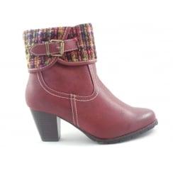 Zalea 40338 Red Multi Ankle Boot