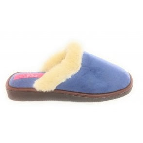 Zoom Blue Mule Slipper